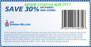 Sherwin Williams coupons for april 2017