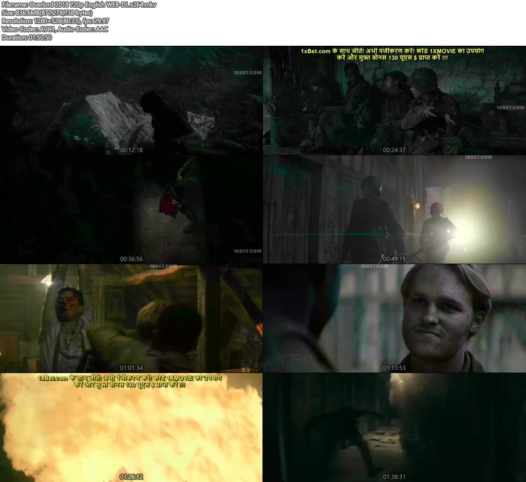 Overlord 2018 720p English WEB-DL x264 | 480p 300MB | 100MB HEVC Screenshot