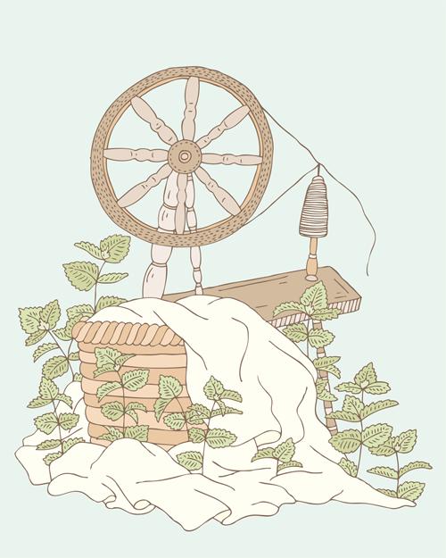 Emma Margaret Illustration Nettle Spinner Fairytale 2016