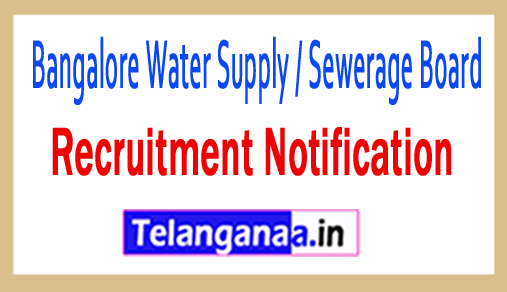 Bangalore Water Supply / Sewerage Board BWSSB Recruitment