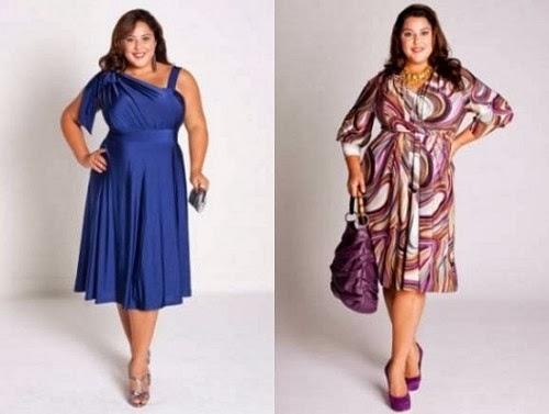 Model Fashion Dress Wanita Gemuk dan Pendek Terbaru