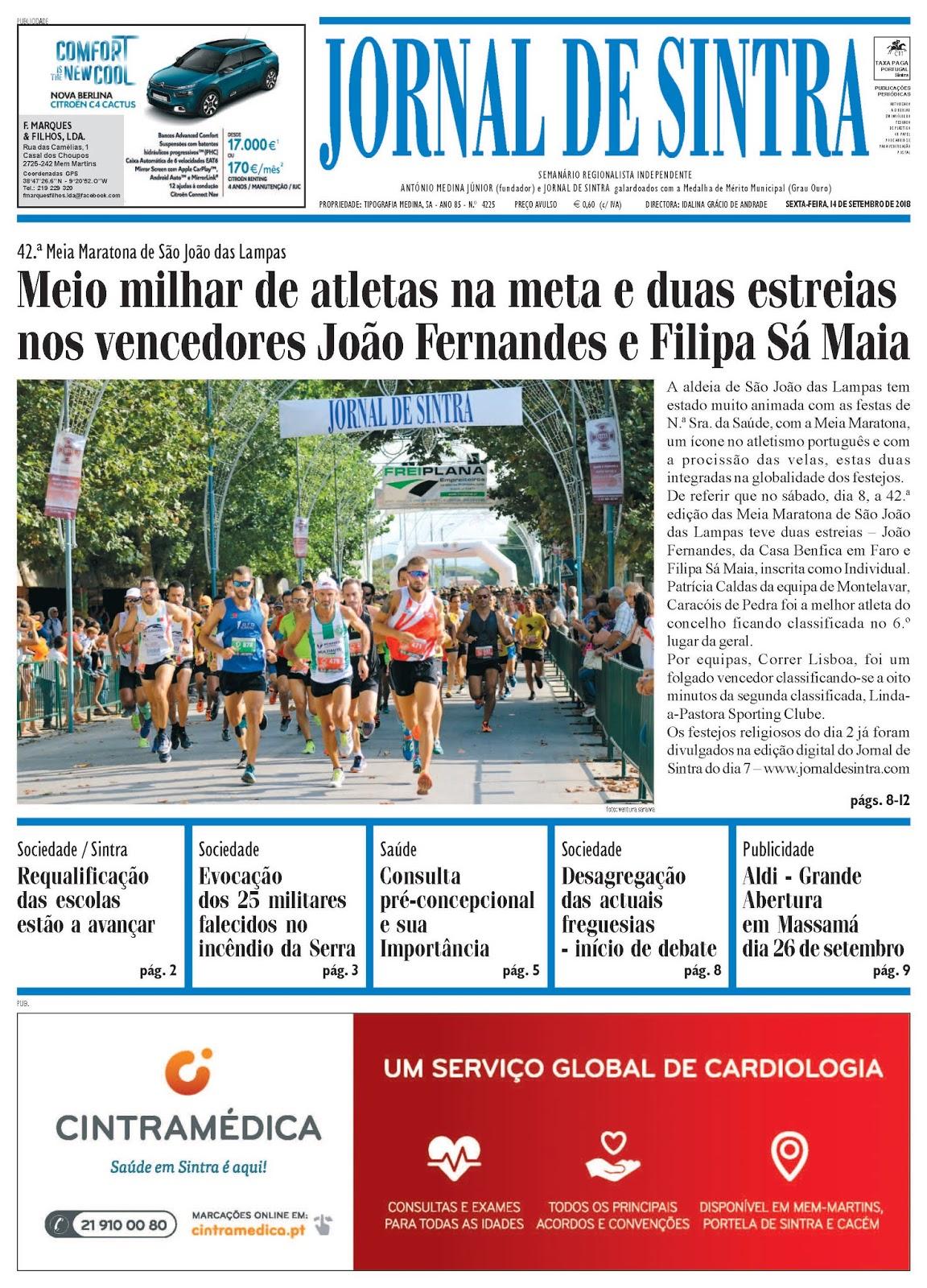 Capa da edição de 14-09-2018