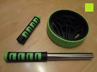 Lieferumfang: AB-Roller / Bauchtrainer / Bauch Roller »TheBodyWheel« / Ideal für Schulter-, Rücken- und Bauchmuskeltraining / zerlegbar, Farbe grün