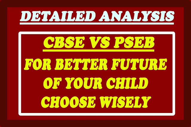 CBSE VS PSEB