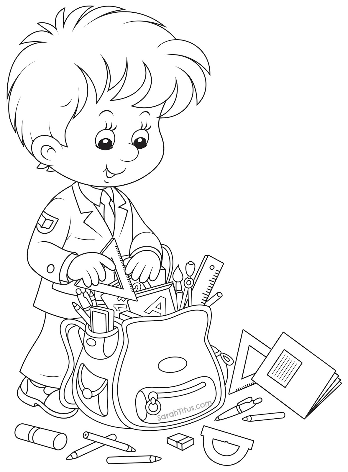 school kids coloring pages | Coisas que gosto de partilhar: Expressão Plástica - início ...