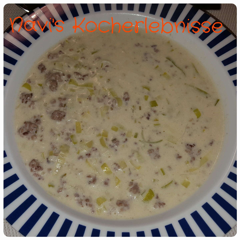 fettarme käse lauch suppe