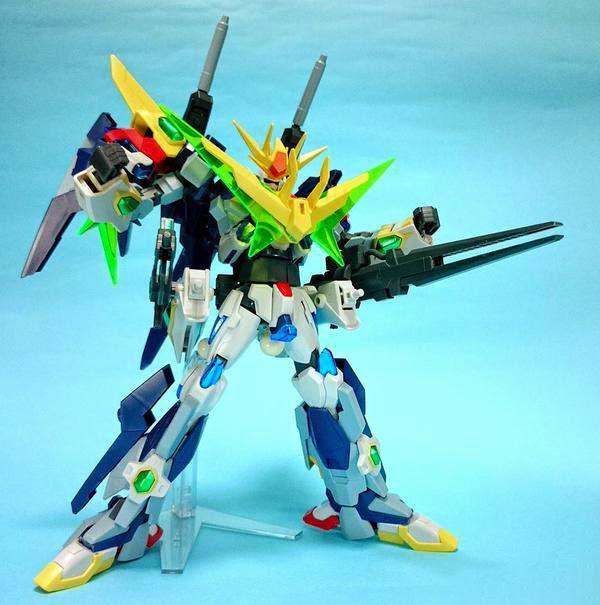 Custom build 1 144 gundam build fighters try combiner for Domon gundam build fighters try