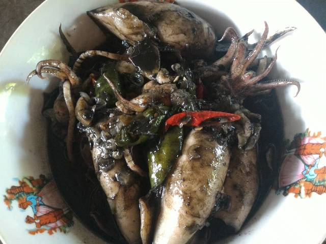 Oyster sauce squid