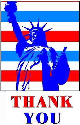 Thank You USA Statue of Liberty