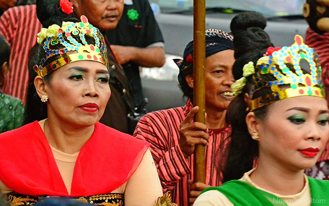 Peserta Festival Ogoh-ogoh di Jalan Malioboro
