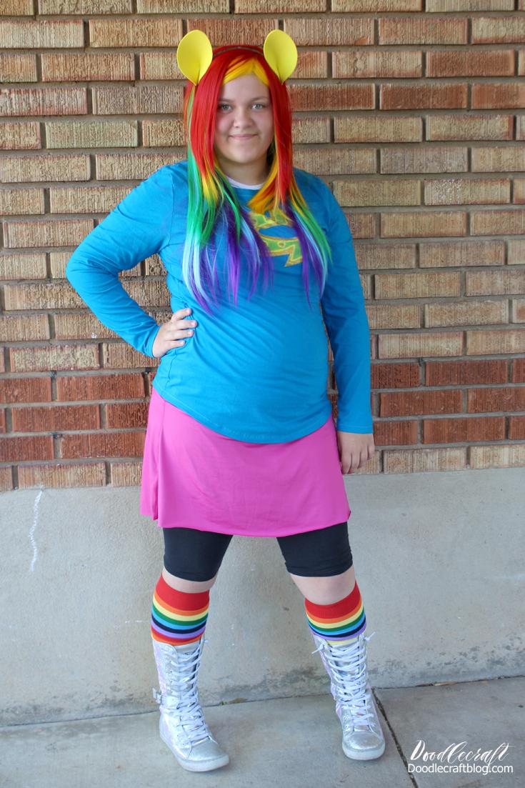 Doodlecraft My Little Pony Rainbow Dash Cosplay Costume Diy