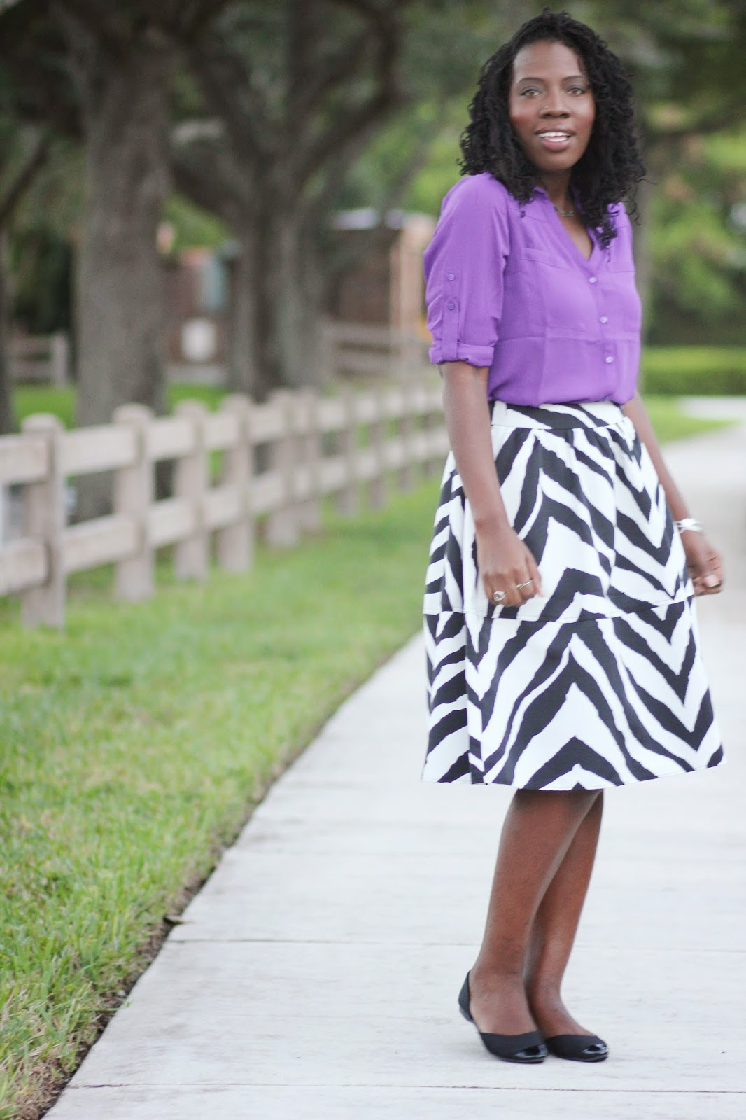 Kreyola's Journeys: What I Wore: Zebra Midi Skirt