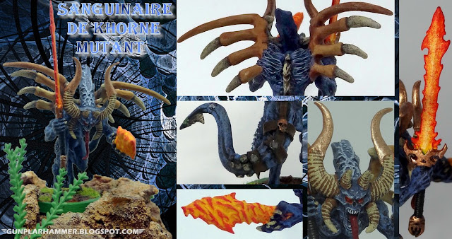 Sanguinaire de Khorne (Bloodletter) mutant Warhammer