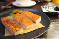 Crispy Roasted Pork Belly at Mott 32 in Hong Kong