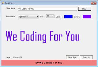 Text Printer Source Code