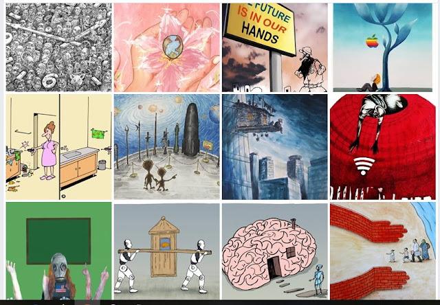 The Finalists of 6th KalDer Bursa International Cartoon Contest
