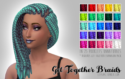 My Sims 4 Blog Get Together Braids Recolors By Leysims