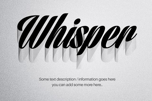 Whisper-Text-Effect