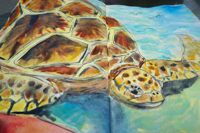 That Artist Woman Mixed Media Turtle