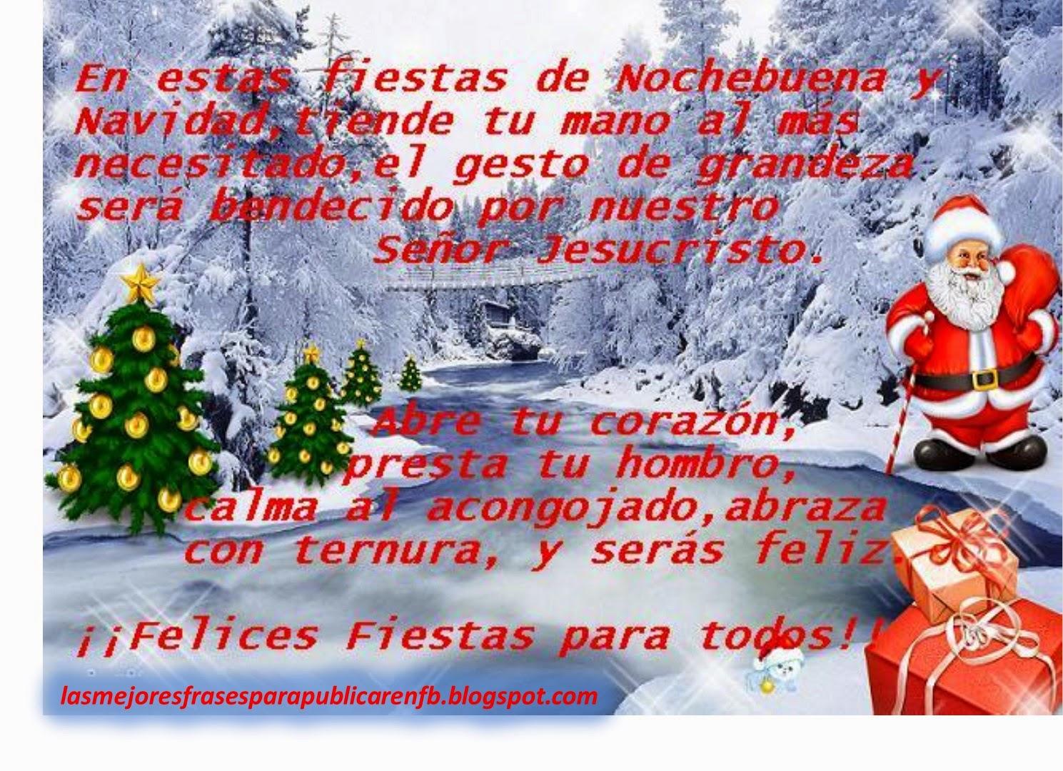 Las Mejores Frases Para Publicar En Fb Frases De Navidad