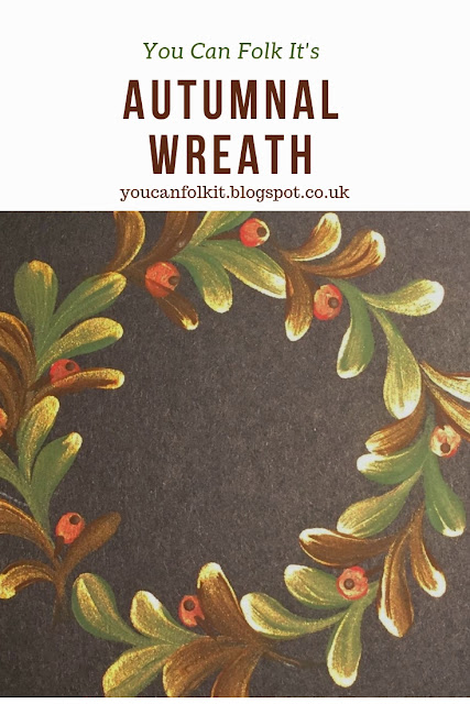 Paint your own autumnal wreath