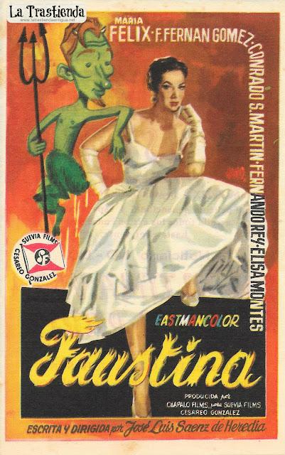 Faustina - Programa de Cine - María Félix - Fernando Fernán Gómez