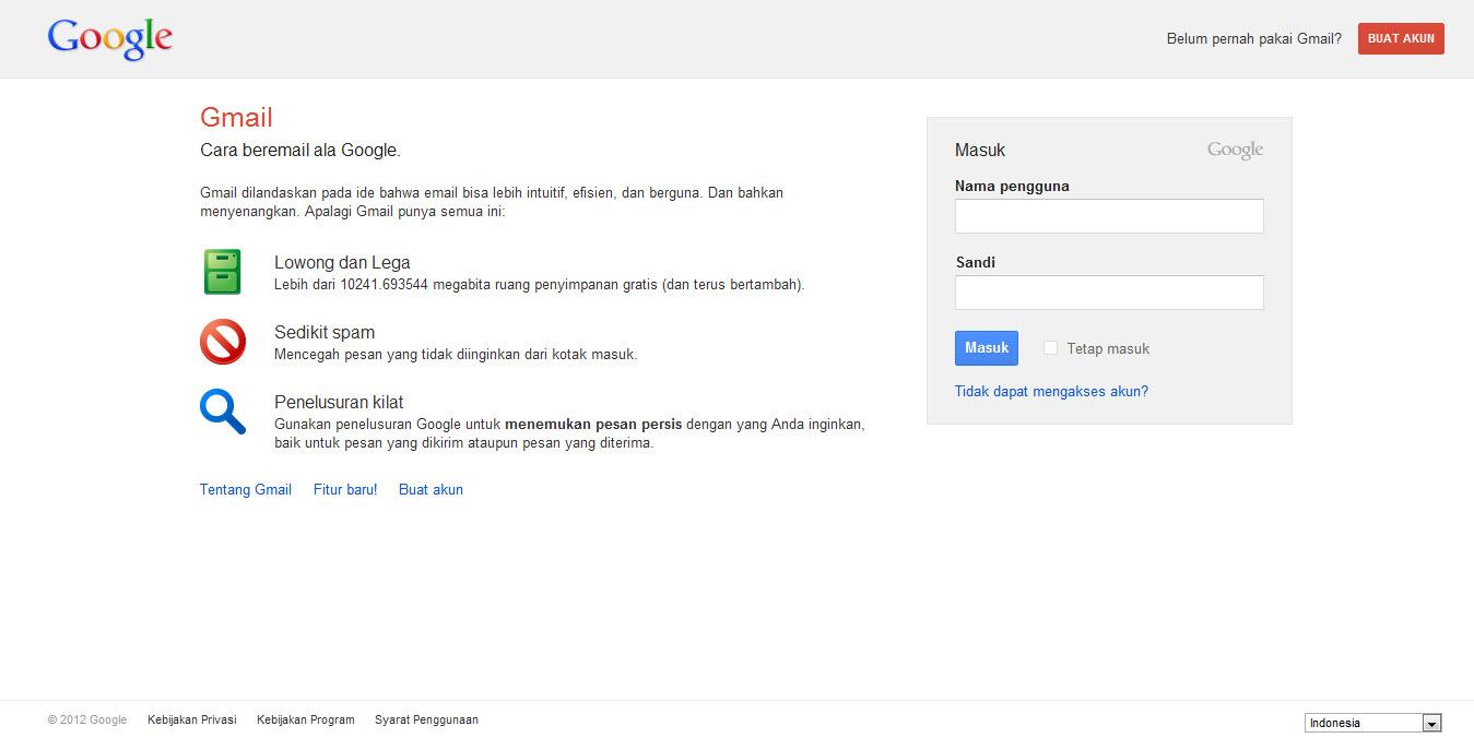 Daftar Gmail Indonesia Cara Membuat Email Baru Gratis Weblog
