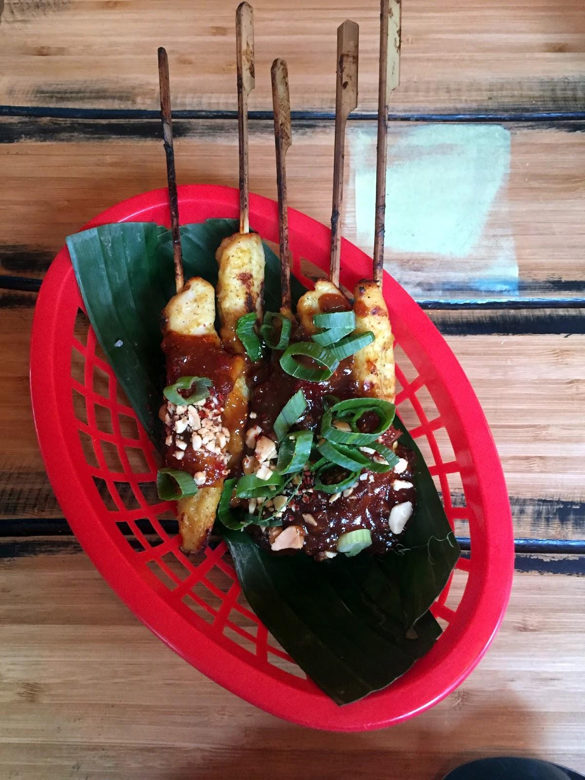 Stitch & Bear - Soi74 Thai Food Cafe - lemongrass chicken satay skewers