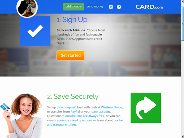 Card.com Personalized VISA Prepaid Debit Cards