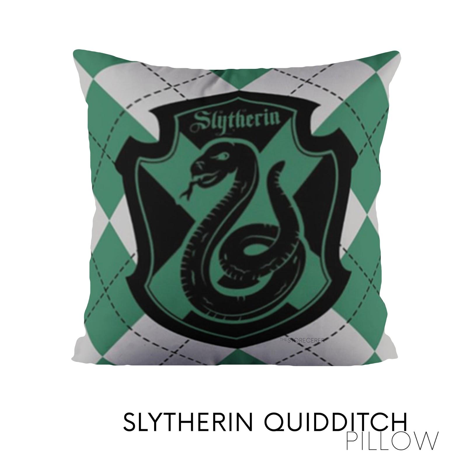 bantal kotak slytherin quidditch