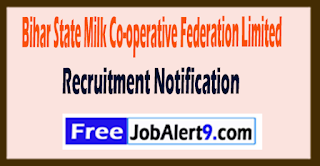 COMFED Bihar State Milk Co-operative Federation Limited Recruitment Notification 2017 Last Date 27-07-2017