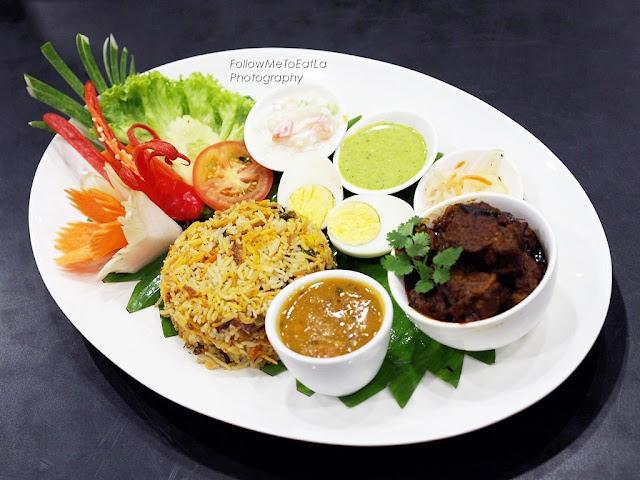 Legendary Lamb Briyani served with Rice & Condiments