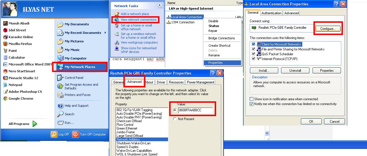 Cara Memperbaiki quotIP Address Warnet Komputerquot Yang Di
