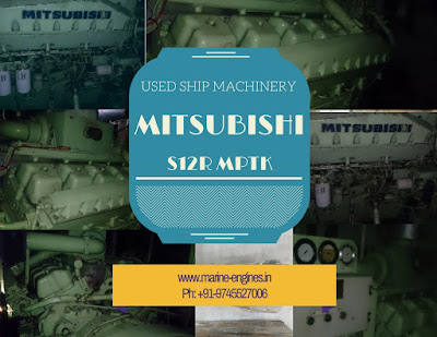 Mitsubishi, S12R, MPTA, MPTK, marine, generator, sale, used, second hand, good condition, ship machinery, supplier, seller, stock, buy, spare parts, new, unused, pre owned, reconditioned,
