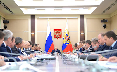 Vladimir Putin at the Council for Strategic Development and Priority Projects meeting.