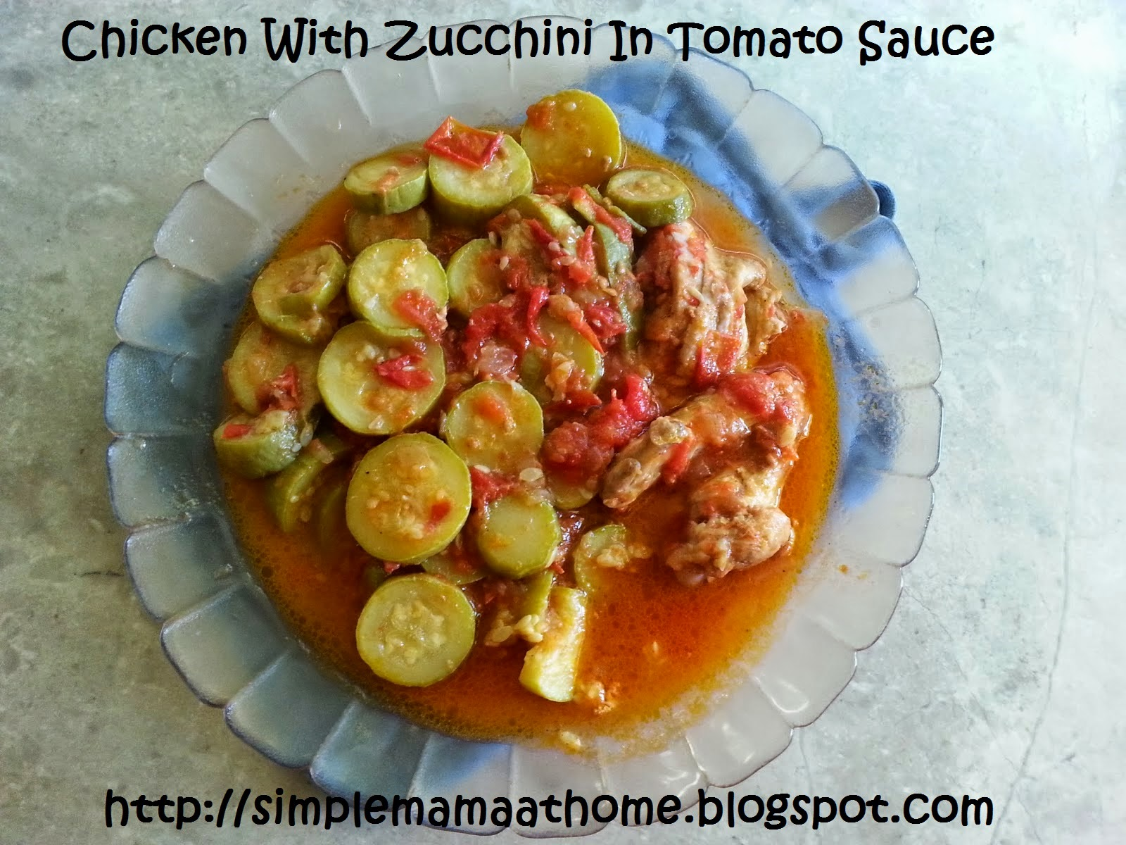 Chicken With Zucchini In Tomato Sauce