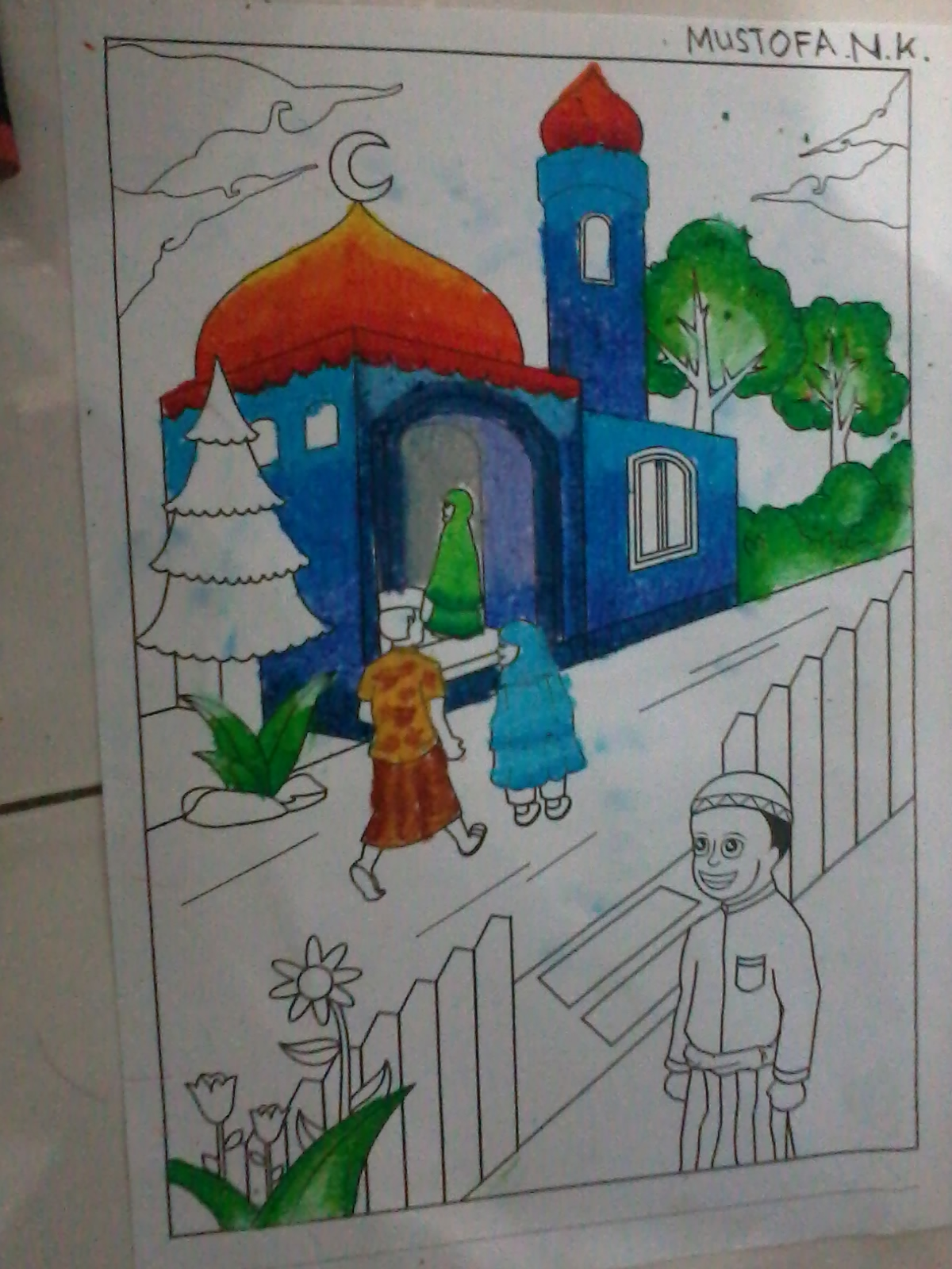 Baru 27 Hasil Mewarnai Masjid