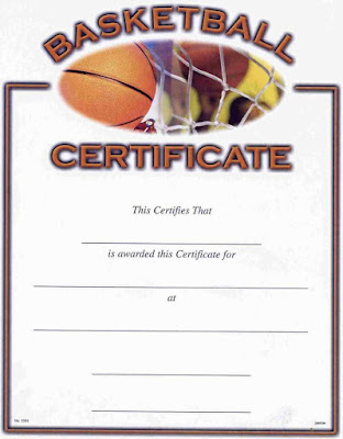 Blank Sports Certificate Templates Asqpo