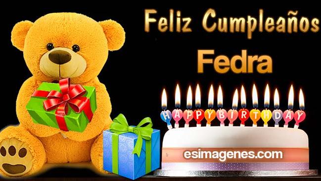 Feliz cumpleaños Fedra