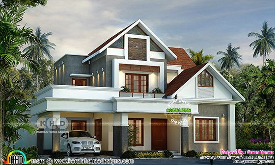 Beautiful modern style mix roof home 2800 sq-ft