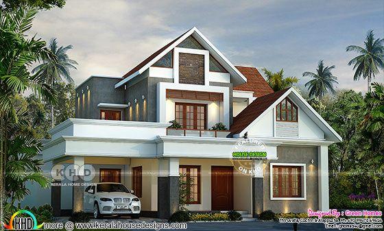Beautiful Modern Style Mix Roof Home 2800 Sq Ft Kerala