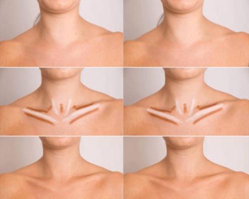 contouring de cuello y clavicula paso a paso