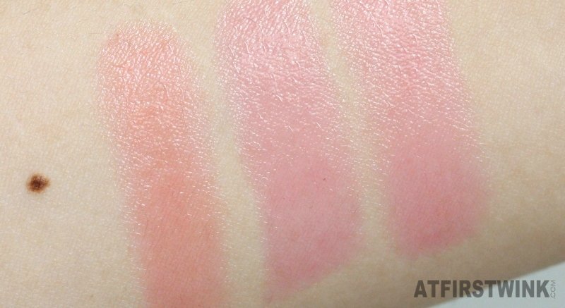 eSpoir tint lip treatment peach pink cherry arm swatches