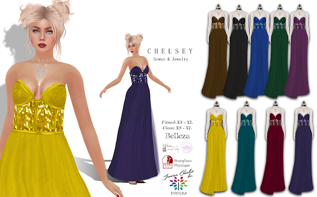 PRISM ~ New Exclusive Release at Designer Circle Chelsey Gowns