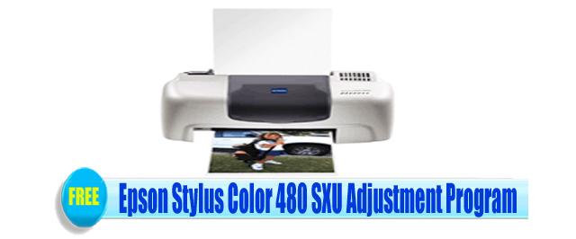 Epson Stylus Color 480 SXU Adjustment Program