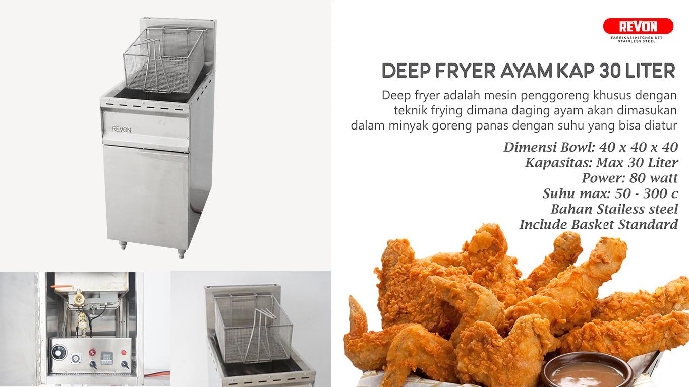 Cara Menggoreng Fried Chicken dengan Deep Fryer Gas