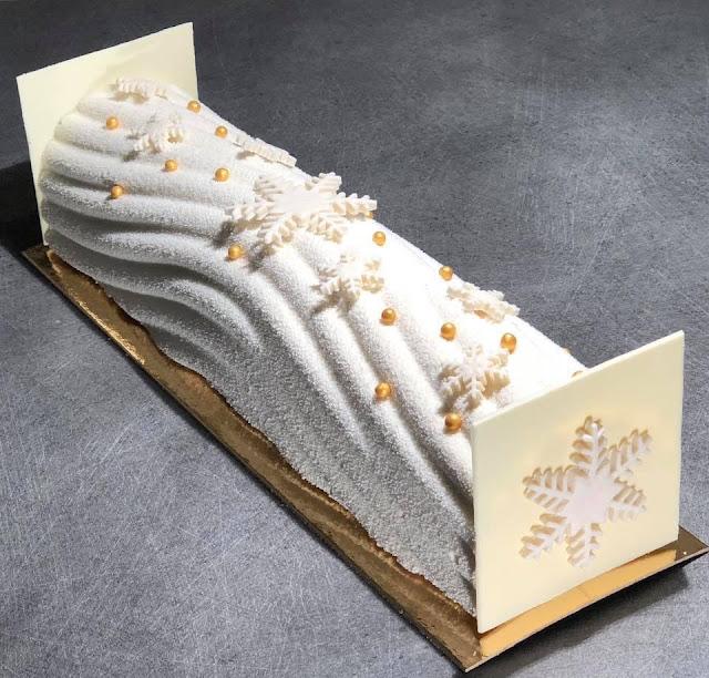 bûche de noël blanche neige