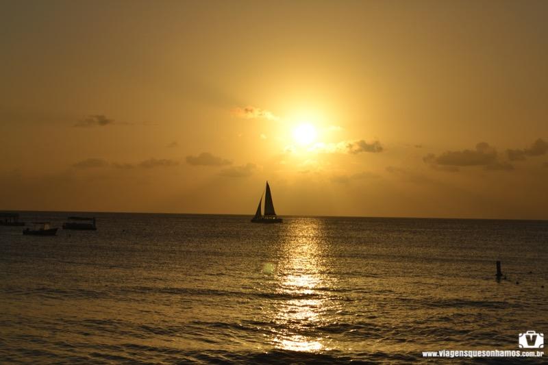 Por do sol em Barbados