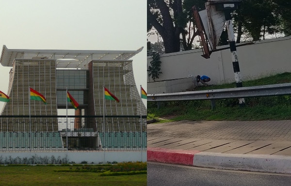 Man Pictured defecating on Ghana's Presidential Villa
