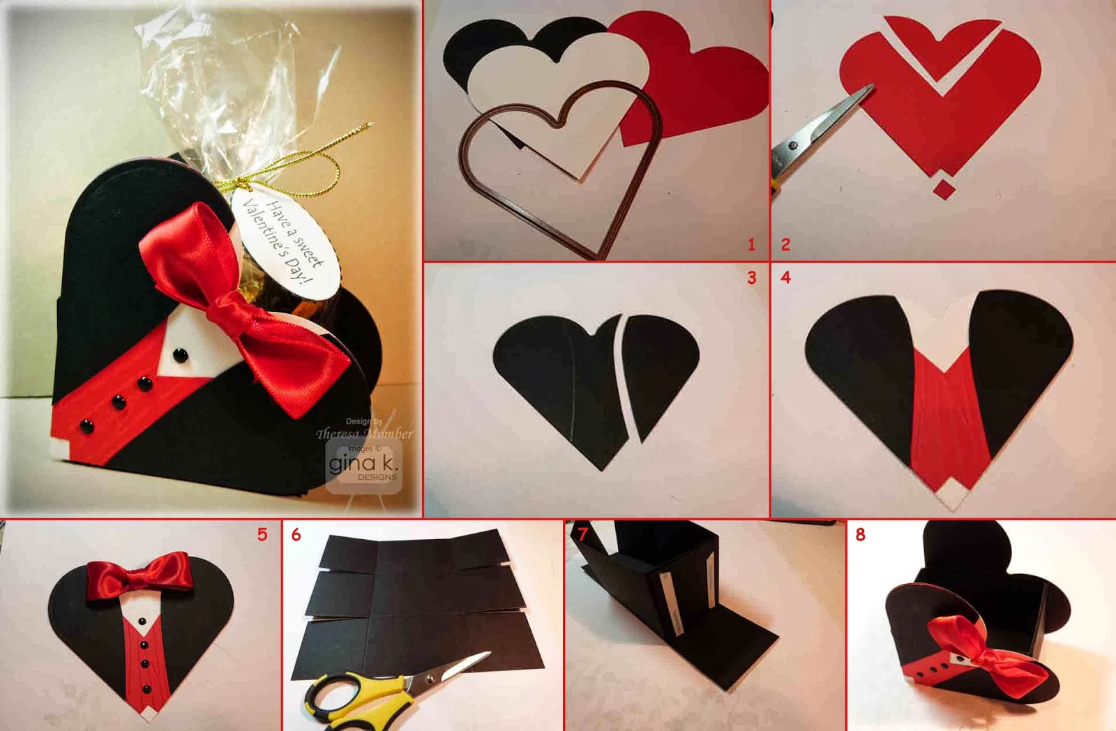 Ideas Amp Products Tuxedo Heart Box Gift Packing